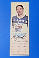 EDDIE JOHNSTON SIGNED 1969 DAD'S COOKIES HOCKEY CARD