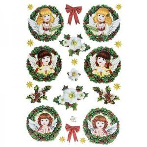 3-D Relief-Sticker Engelchen 3, 1 Bogen DIN A 4, selbstklebend, farbig