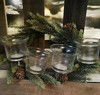 4 x Adventskranzstecker 4cm Schwer Klar Kerzenhalter langer Dorn Adventskranz