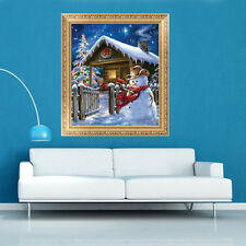 5D DIY Diamond Painting Christmas Snowman Embroidery Cross Stitch Home Decor