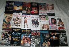 Lot 20 VHS Movies 4 Sealed BATMAN STAR WARS MASH MERLIN Young Frankenstein SHOCK