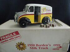 1950 Borden's Milk Truck ~ Franklin Mint, mint condition, w/20 milk crates