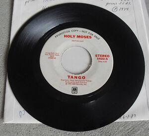 Promo Record 45 RPM Holy Moses Tango A&M Records