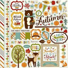 Echo Park Fall is in the Air Collection 12 x 12 Cardstock Stickers Element 2016