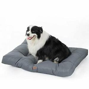 Large Waterproof Dog Bed, Washable Dog Mattress With Chew & Water Resistant