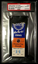 1984 STANLEY CUP FINAL GAME 5 TICKET STUB GRETZKY 1ST OILERS CUP WIN PSA/DNA