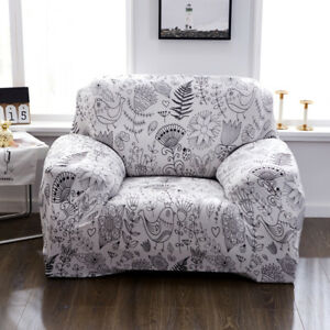 1/2/3/4 Seater Stretch Slipcovers Sofa Covers Set Elastic Couch Cover L Shape