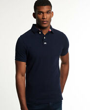 New Mens Superdry Classic Pique Polo Shirt Eclipse Navy Marl