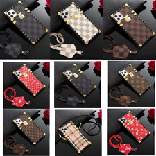NEW Luxury Plaid Square Leather Case Cover for Samsung Galaxy S20/S10/Note10/9/8