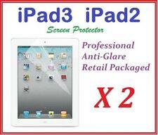 The New iPAD iPAD3 iPAD2 Ultra Clear LCD Screen Protector Anti Glare Film X 2