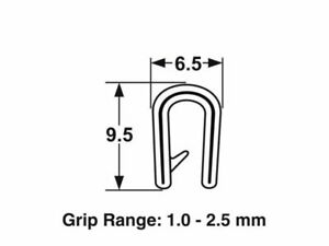 PVC Black Pinchweld 60-063 universal sizing PRICE PER METRE
