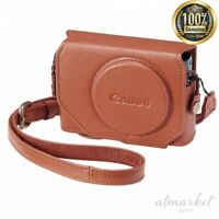 Canon Original Digital Camera case CSC-G9BW Genuine Leather Brown from JAPAN