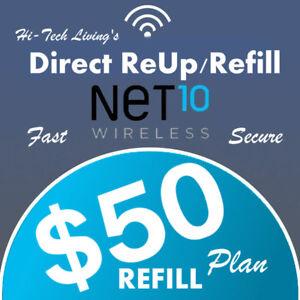 $50 NET10 FASTEST ONLINE REFILL > 25yr USA TRUSTED DEALER <