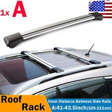 1pc Universal Top Rail Raised Cross Bar Roof Rack kayak Luggage Carrier + Lock
