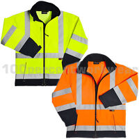 Warrior IOWA High Visibility Soft Shell Work Jacket Hi Vis Viz Yellow or Orange