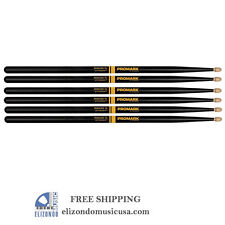 PROMARK 7A Drum Sticks Black Select Balance Rebound Active Grip 3 PAIRs
