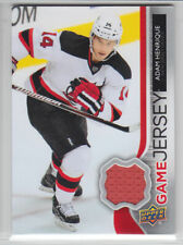2014-15 UD SERIES ADAM HENRIQUE GAME JERSEY GJ-AH GAME USED Upper Deck Devils