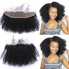 """Afro Kinky Curly 13x2"""" Virgin Human Hair  Pre Plucked Lace Frontal Closure 8""""-20"""