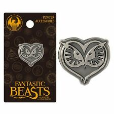 Harry Potter New * Owl * Pewter Lapel Pin Fantastic Beasts Charm Accessory NIP