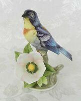 "Vintage Andrea by Sadek Bird Figurine Parula Warbler 8627 Japan 5-1/2"" H"