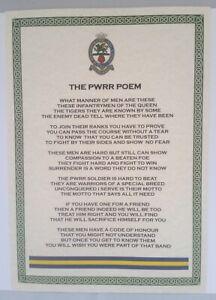 PWRR Prince Of Wales Royal Regiment Poem