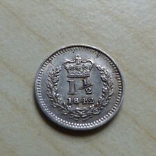 More details for 1 1/2 pence threehalfpence 1842 silver queen victoria mint error (myrefn15748)