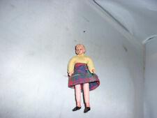 Alte Caco-Puppe-Biegepuppe-Frau-Puppenhaus-Puppenstube-1:18-doll-poupee-selten
