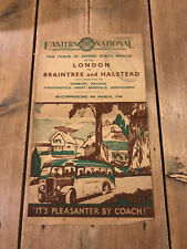 More details for eastern national time tables london, braintree & halstead 1946