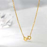 New 16INCH 18K Yellow Gold Necklace 1mm ROLO Link Chain Necklace Au750
