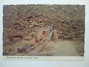 US Riding the Big Drop Rapid in Colorado River Postcard ,. New