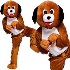 Adult Playful Puppy Fancy Dress Mascot Costume Animal Dog Hound Pet Unisex New