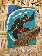 Kahala AVI Collection Hawaiian Aloha Friday Rayon Shirt Mens L SS Surfing  USA