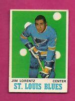 1970-71 OPC  # 209 BLUES JIM LORENTZ  ROOKIE VG CARD (INV#2266)
