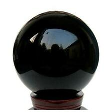 Exquisite 80mm Black Obsidian Sphere Large Crystal Ball Healing Stone VG US