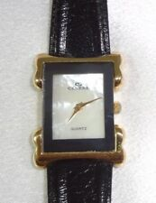 LADIES CENERE  #PR-20 Wrist Watch Genuine Leather Band Shower Proof MOP Face!