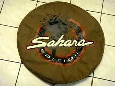 JEEP WRANGLER TJ ZAHARA 1997 - 2006 REAR SPARE TIRE COVER PROTECTOR TAN COLOR