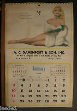 Chiriaka Calendar Page January 1954 This Girl Attracts Attention Jewels & Furs