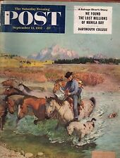 1952 Saturday Evening Post September 13-Dartmouth;Lebanon OR;Manila Bay treasure