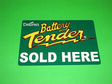 DELTRAN BATTERY TENDER CHARGER SOLD HERE REUSABLE WINDOW CLING STICKER DECAL