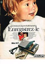 PUBLICITE ADVERTISING 014   1969   PHILIPS   magnétophone K7