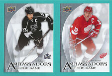 2010-11 Upper Deck Ambassadors Of The Game - You Pick To Complete Your Set