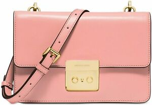 MICHAEL Michael Kors Small Sloan Leather Crossbody Bag Purse Pale Pink