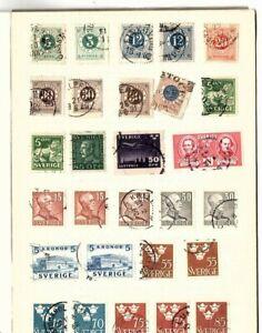 stamps Sweden Switzerland Czechoslovakia appx 200 stamps  (mb13