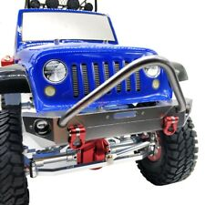 ALLOY Front Bumper W/ Shackles Winch Mount For RC 1/10 AXIAL SCX10 II Jeep Truck