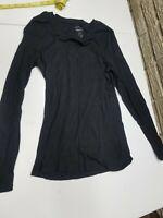 Old Navy Women's Black Long Sleeve Shirt Top  Size M