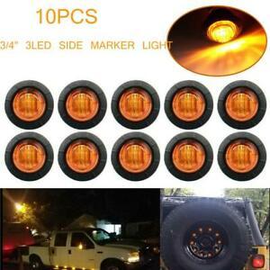 "10X Mini 3/4"" LED Rock Light Amber Undercar Lights For JEEP Off-Road Truck ATV"