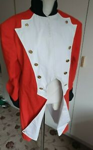 Theatrical military uniform tailcoat British Grenadier War Independence Redcoat