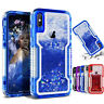 Heavy Duty Armor Bling Glitter Quicksand Phone Case Cover For iPhone XR X 8 Plus
