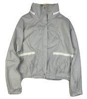 Lululemon Womens Gray White Stripe Jacket Full Zip Hooded Women's Size 12