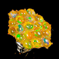 Opal Ring Silver 925 Sterling Luxury jewelry 100Us, Size 9 /R141544